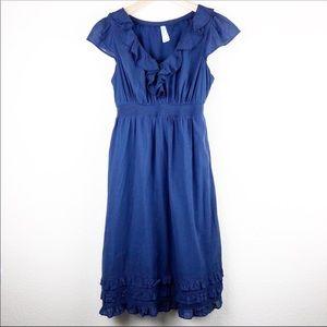Maeve for Anthropologie ruffle babydoll midi dress